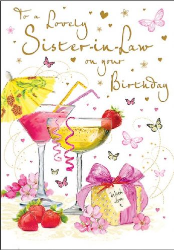 To A Lovely Sister-In-Law On Your Birthday
